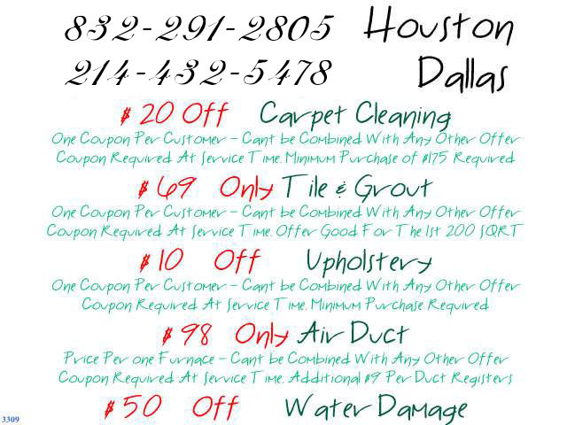 carpet cleaners special offers in texas and dallas